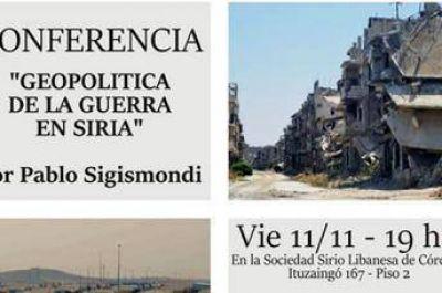 Conferencia sobre el conflicto en Siria, en la Sociedad Sirio Libanesa de Córdoba