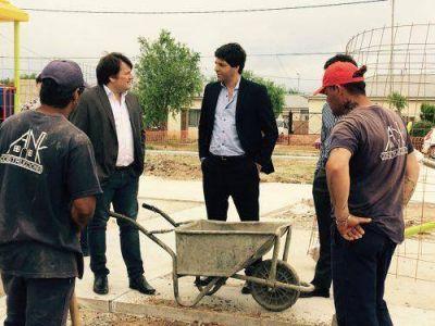 García De Luca visitó obras de hábitat en General Rodríguez