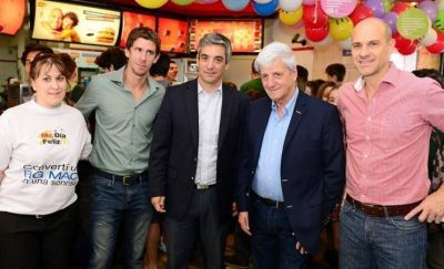 Andreotti acompañó la jornada solidaria 'McDía Feliz'