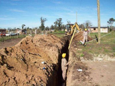 OSSE extendió redes de agua y cloaca en Florentino Ameghino