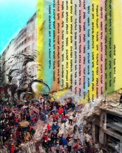 """Exhiben en el Ministerio de Educación los murales del proyecto """"Memoria AMIA"""""""