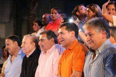 Beder, Quintela, Casas, Bosetti y Menem, la unidad del PJ