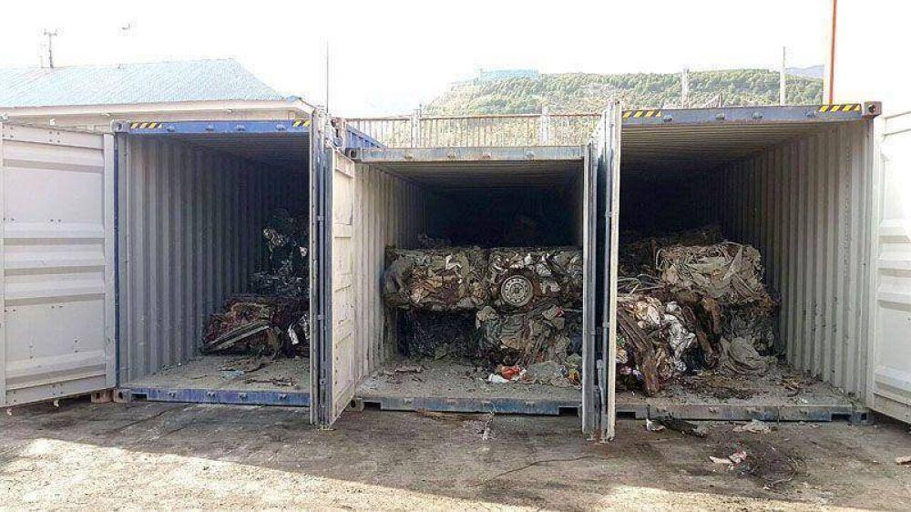 600 toneladas de chatarra serán transportadas hacia el continente