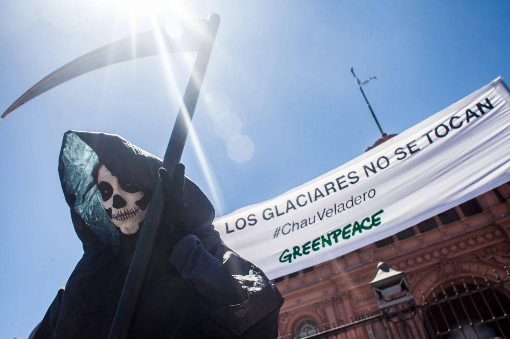 Calaveras para Macri en Plaza de Mayo