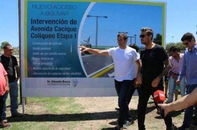 Se inauguró el nuevo tramo de la avenida Cacique Coliqueo, la bicisenda y se descubrió la placa del futuro Polo Tecnológico