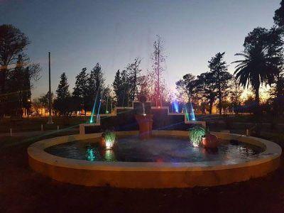 Buena Esperanza inauguró las obras en plaza Sarmiento