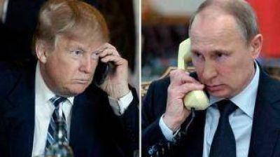 Trump y Putin hablaron por teléfono y prometieron