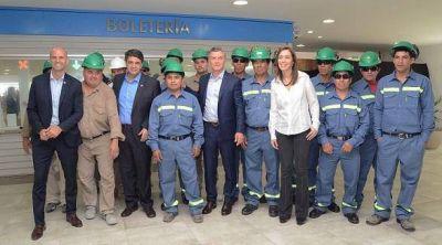 Macri y Vidal inauguraron la nueva estación A del Valle con Jorge Macri
