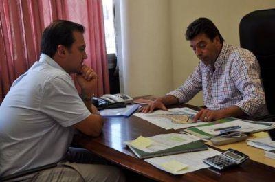 Daniel Orlando se reunió con el presidente de San Luis Agua