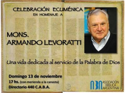 Celebración ecuménica – interreligiosa en homenaje a Mons. Armando Levoratti