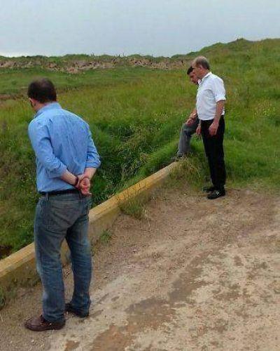 El diputado Zurro y el intendente de Pehuajó estuvieron en Carlos Tejedor, preocupados por las inundaciones