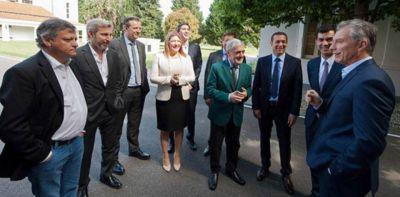 Voto y reclamos: Das Neves se reunió con Macri y Frigerio