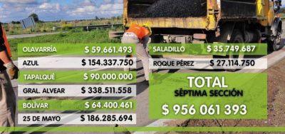 """Lordén: """"La Provincia prevé invertir casi 1000 millones de pesos en obras públicas en la Séptima en 2017"""""""