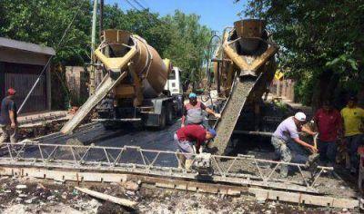 Cascallares recorrió obras de asfalto en San José, Ministro Rivadavia y Malvinas Argentinas