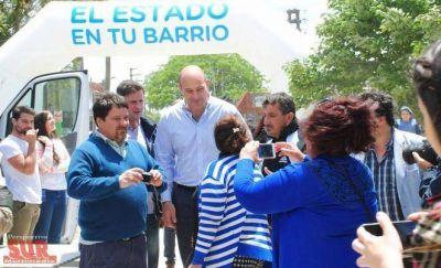 Molina en el operativo médico y social del programa El Estado en tu barrio