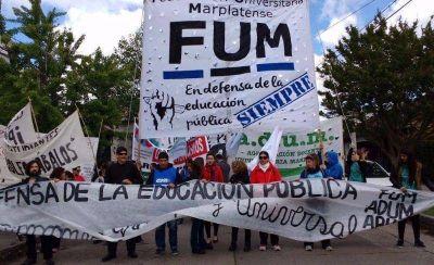 Gran marcha a favor del boleto universitario y de la educación pública