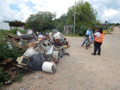 Sacaron 57 mil kilos de chatarra de los distintos barrios