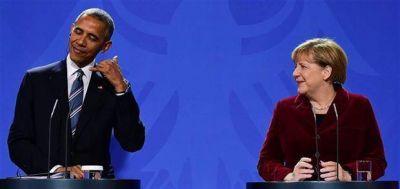 Un traspaso simbólico: Obama le entrega a Merkel la posta de