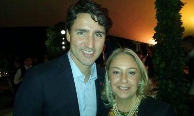 Liliana Negre de Alonso en la cena de honor al Primer Ministro de Canadá