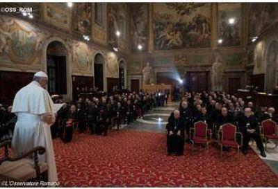 """El Papa a la Rota Romana: """"Tribunales eclesiásticos, expresión tangible del servicio diaconal"""""""