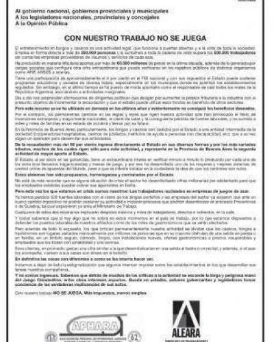 Los trabajadores de los bingos en pie de guerra ente la suba de Ingresos Brutos que define Vidal