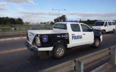 Refuerzan la presencia policial en los puentes de Panamericana