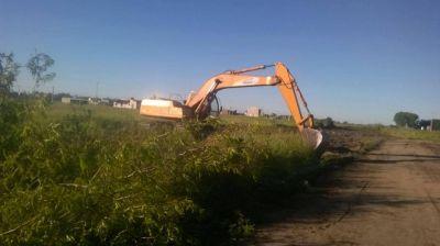 Obras y Servicios Públicos comenzó a ejecutar tareas en la zona de Av. Saavedra y Rojas