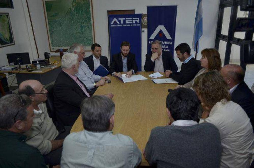ATER firmó convenios con municipios para intercambio de datos
