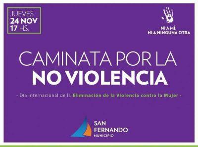 San Fernando caminará por la No Violencia