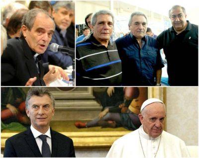 La CGT y la Iglesia juntas mientras la relación de Macri con Francisco no es la mejor