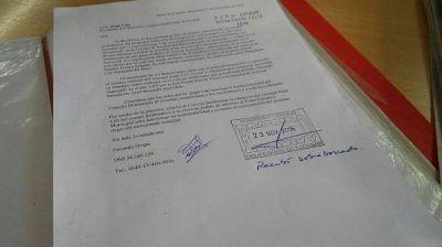 El GEN Escobar solicitó la expulsión del HCD de Jorge