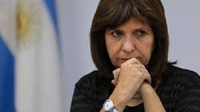Se suspendió el Congreso contra el narcotráfico que iba a encabezar la ministra Bullrich en Paraná