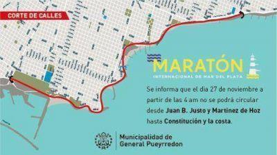 Confirman cortes y horarios para el Maratón de Mar del Plata