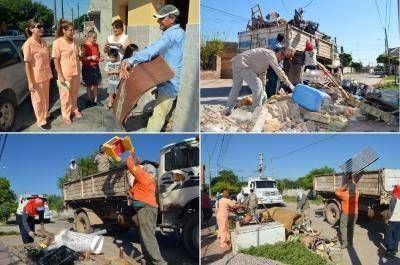 Continúan con los trabajos de limpieza, erradicación de mini basurales y recolección de residuos