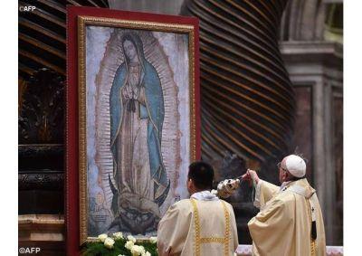 Santa Misa en honor de Nuestra Señora de Guadalupe presidida por el Papa Francisco