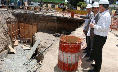 Tagliaferro supervisó la obra de la Cuenca Hidráulica Haedo Norte