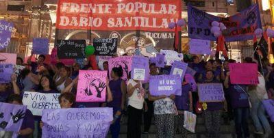 Cientos de manifestantes marcharon en Tucumán contra la violencia de género