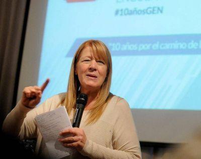 Margarita Stolbizer encabezó en Mar del Plata un Congreso del GEN
