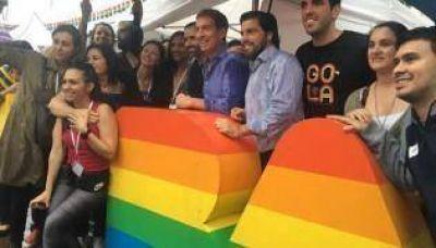 Santilli, en la Marcha del Orgullo LGBTIQ