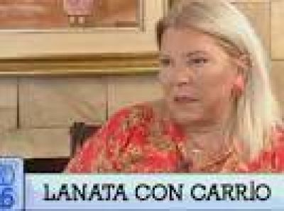 Elisa Carrió con Jorge Lanata: