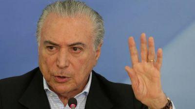 Temer dice que no apoyará una autoamnistía para legisladores acusados de corrupción