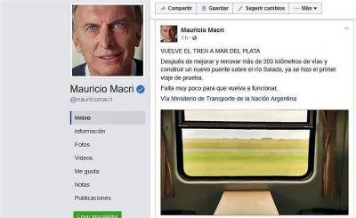 Macri anunció el regreso del tren a Mar del Plata