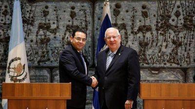 El presidente de Guatemala ya se encuentra en Israel