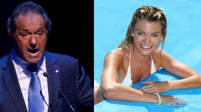 Daniel Scioli volvió al país con Gisela Berger, ex bailarina de ShowMatch