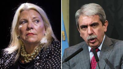 Aníbal Fernández faltó a una cita con Elisa Carrió y se agudiza la pelea judicial