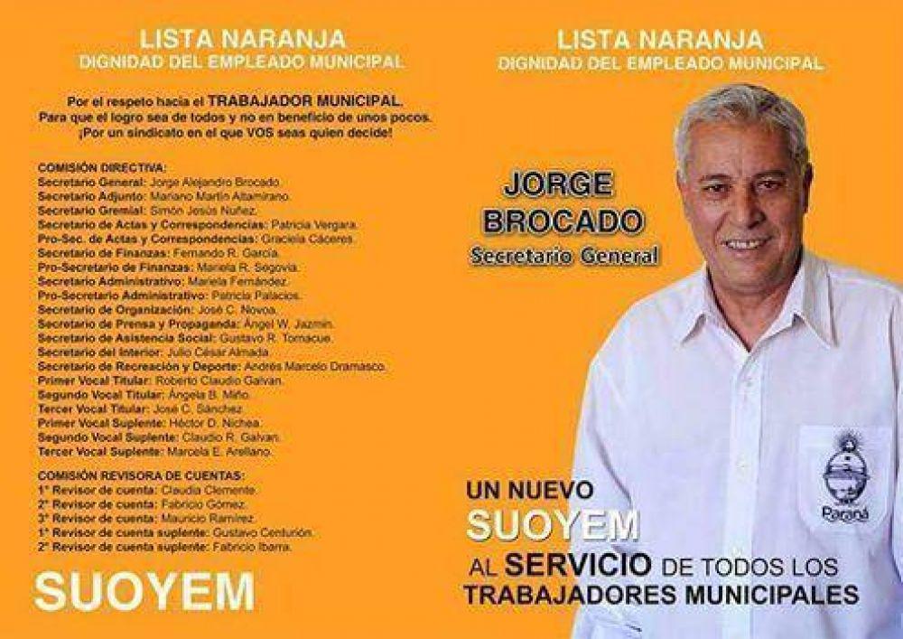 Jorge Brocado ganó las elecciones del Suoyem
