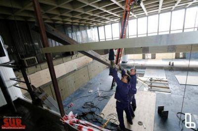 Avanzan las obras de remodelación del Palacio Municipal de Lanús
