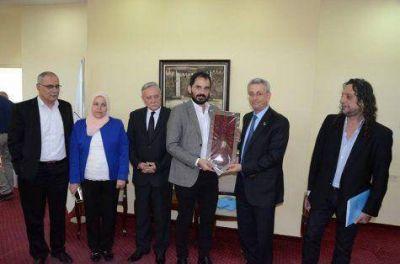 Campagnoli manifestó su apoyo a la causa Palestina