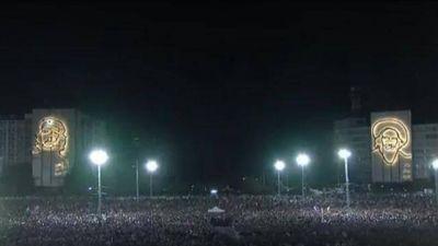 Despidieron a Fidel Castro con un acto multitudinario en La Habana