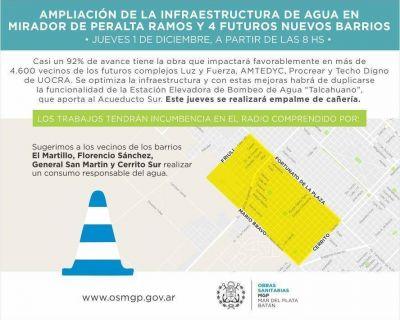 Mejoras operativas de OSSE en la Estación Elevadora de Agua Talcahuano y en barrio Alfar